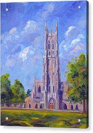 The Chapel At Duke University Acrylic Print by Jeff Pittman