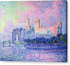 The Chateau Des Papes Acrylic Print by Paul Signac