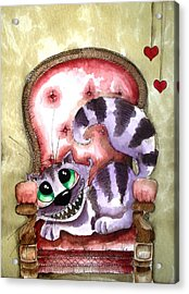 The Cheshire Cat - Lovely Sofa Acrylic Print by Lucia Stewart