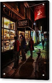 The Chess Forum Acrylic Print by Lee Dos Santos