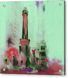 The Chicago Water Tower 535 4 Acrylic Print by Mawra Tahreem