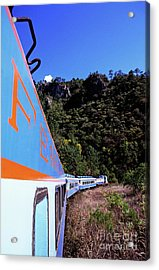 The Chihuahua-pacific Railway Travelling Through The Copper Canyon Acrylic Print by Sami Sarkis