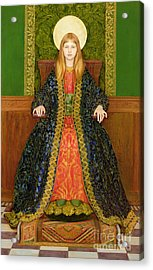 The Child Enthroned Acrylic Print by Thomas Cooper Gotch