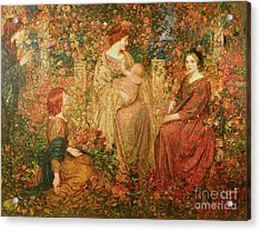 The Child Acrylic Print by Thomas Edwin Mostyn