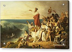 The Children Of Israel Crossing The Red Sea Acrylic Print by Henri-Frederic Schopin
