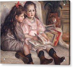 The Children Of Martial Caillebotte Acrylic Print by Pierre Auguste Renoir