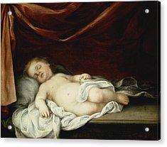 The Christ Child Asleep Acrylic Print by Bartolome Esteban Murillo
