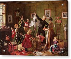 The Christmas Hamper Acrylic Print by Robert Braithwaite Martineau