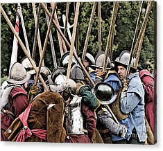 The Clash Of The Pikemen Acrylic Print by Linsey Williams