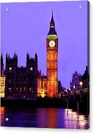 The Clock Tower Aka Big Ben Parliament London Acrylic Print by Chris Smith