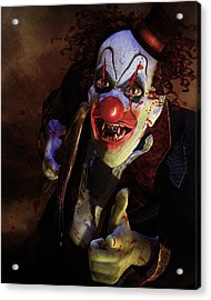 The Clown Acrylic Print by Mary Hood