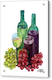 The Colors Of Wine Acrylic Print by Arline Wagner