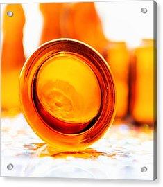 The Colour Of Amber IIi - Square Acrylic Print by Jon Woodhams