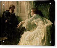 The Confession Acrylic Print by Sir Frank Dicksee