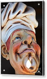 The Cook Acrylic Print by Sophie Vigneault