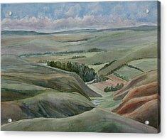 The Corrugated Plain Acrylic Print by Jenny Armitage
