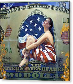 The Cost Of Freedom Acrylic Print by Patrick Anthony Pierson