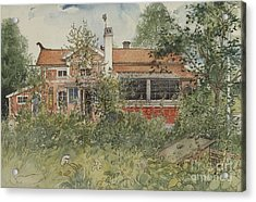 The Cottage Acrylic Print by Carl Larsson