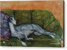 The Couch Potatoe Acrylic Print by Frances Marino