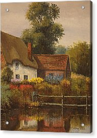 The Country Cottage Acrylic Print by Sean Conlon
