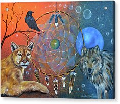 The Courage To Be Free Acrylic Print by Sundara Fawn