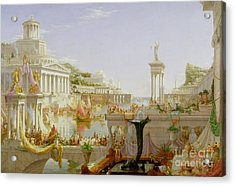 The Course Of Empire - The Consummation Of The Empire Acrylic Print by Thomas Cole