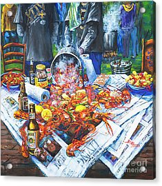 The Crawfish Boil Acrylic Print by Dianne Parks