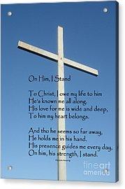The Cross Acrylic Print by MaryJane Armstrong