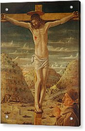 The Crucifixion Acrylic Print by Giovanni Bellini