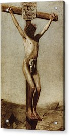 The Crucifixion Acrylic Print by Thomas Eakins