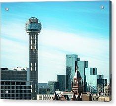 The Dallas Blues Acrylic Print by Sonja Quintero
