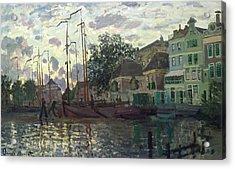The Dam At Zaandam Acrylic Print by Claude Monet