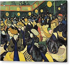 The Dance Hall At Arles Acrylic Print by Vincent Van Gogh