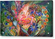 The Dance Of Flowers Acrylic Print by Elena Kotliarker