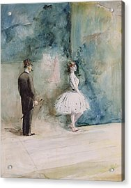 The Dancer Acrylic Print by Jean Louis Forain