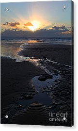The Days Last Rays At Dunraven Bay Wales Acrylic Print by James Brunker