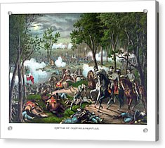 The Death Of Stonewall Jackson Acrylic Print by War Is Hell Store
