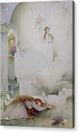 The Death Of The Virgin Acrylic Print by Guillaume Dubufe