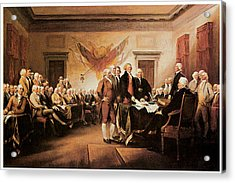 The Declaration Of Independence Acrylic Print by John Trumbull