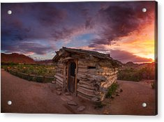 The Delicate Little Cabin Acrylic Print by Darren  White