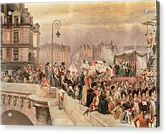 The Departure Of The Volunteers 1792 Acrylic Print by Jean Baptiste Edouard Detaille