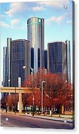 The Detroit Renaissance Center Acrylic Print by Gordon Dean II