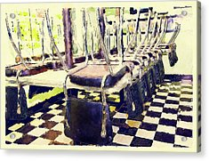The Diner Is Closed Acrylic Print by Susan Leggett