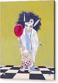 The Doctor Acrylic Print by Leonard Filgate