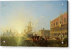 The Doge's Palace, Venice Acrylic Print by William James Muller