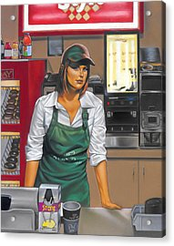 The Donut Shop Acrylic Print by Glenn Bernabe