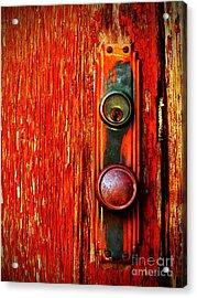 The Door Handle  Acrylic Print by Tara Turner