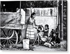 The Dosa Cart Acrylic Print by Tim Gainey