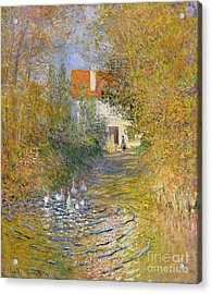 The Duck Pond Acrylic Print by Claude Monet