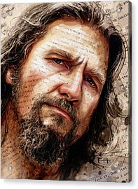 The Dude Acrylic Print by Fay Helfer